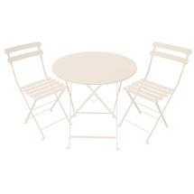 2 x Bistro Chairs - Linen + Bistro 77 Table - Linen