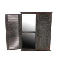 Aged Mirror with Shutters