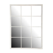 White Squared Outdoor Mirror