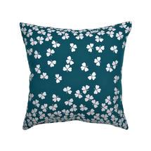 Trefle Cushion 44cm x 44cm – Duck Blue