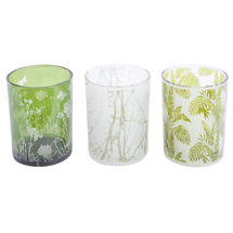 Set of 3 Foliage Green Votives