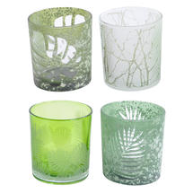 Leaf Green Votives - Set of 4