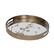 Mercury Mirrored Blossom Tray - Small