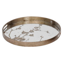 Mercury Mirrored Blossom Tray - Large