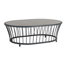 Cordial Coffee Table - Grey with Pebble Top