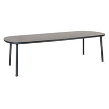 Cordial 270cm Dining Table - Grey with Pebble Top