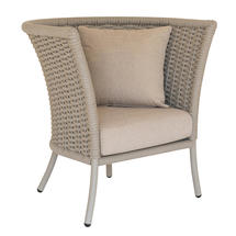 Cordial Straight Top Lounge Chair Beige