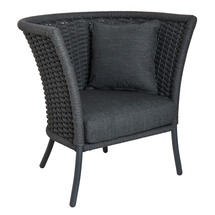 Cordial Straight Top Lounge Chair Grey
