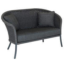 Cordial Curved Top Lounge Sofa - Grey