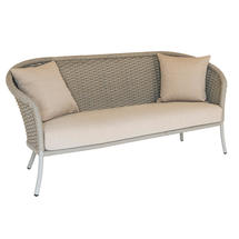Cordial Curved Top Lounge 3 Seat Sofa - Beige