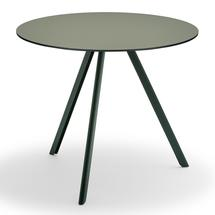 Overlap 85cm Round Table - Hunter Green
