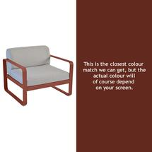 Bellevie Outdoor Armchair - Red Ochre