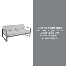 Bellevie Outdoor 2 Seater Sofa - Steel Grey
