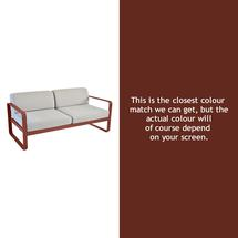Bellevie Outdoor 2 Seater Sofa - Red Ochre
