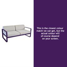 Bellevie Outdoor 2 Seater  Sofa - Aubergine