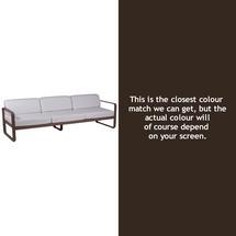 Bellevie Outdoor 3 Seater Sofa - Russet