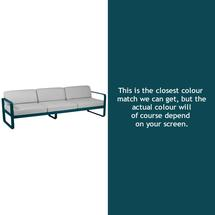 Bellevie Outdoor 3 Seater Sofa - Acapulco Blue