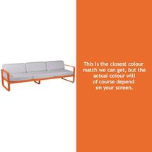 Bellevie Outdoor 3 Seater Sofa - Carrot