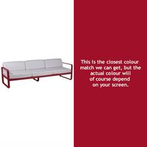 Bellevie Outdoor 3 Seater Sofa - Chilli