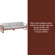 Bellevie 3 Seat Sofa - Red Ochre