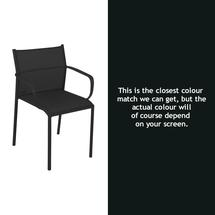 Cadiz Dining Chair with Arms - Liquorice