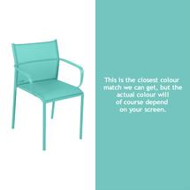 Cadiz Dining Chair with Arms - Lagoon Blue
