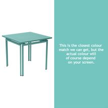 Costa Square Table - Lagoon Blue