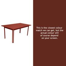 Costa Dining 160x80 Table - Red Ochre