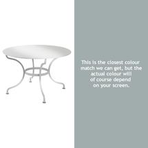 Romane Round 117cm Table - Steel Grey