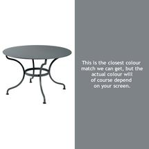 Romane Round 117cm Table - Storm Grey