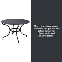 Romane Round 117cm Table - Anthracite