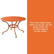 Romane Round 117cm Table - Carrot