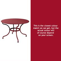 Romane Round 117cm Table - Chilli
