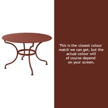 Romane Round 117cm Table - Red Ochre