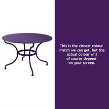 Romane Round 117cm Table - Aubergine