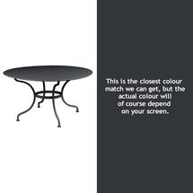 Romane Round 137cm Table - Anthracite