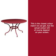 Romane Round 137cm Table - Chilli