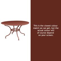 Romane Round 137cm Table - Red Ochre