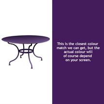 Romane Round 137cm Table - Aubergine