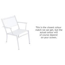 Costa Relaxing Low Chair - Cotton White