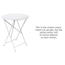 Bistro 60cm Round Table - Cotton White