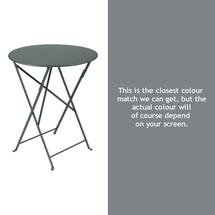 Bistro 60cm Round Table - Storm Grey