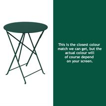 Bistro 60cm Round Table - Cedar Green