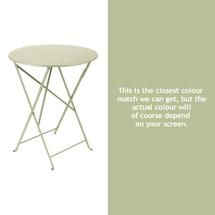 Bistro 60cm Round Table - Willow Green