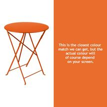 Bistro 60cm Round Table - Carrot