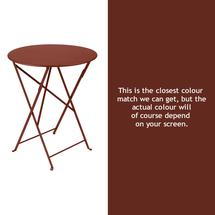 Bistro 60cm Round Table - Red Ochre