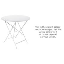 Bistro 77cm Round Table - Cotton White