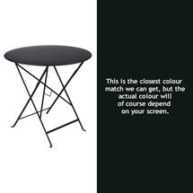 Bistro 77cm Round Table - Liquorice
