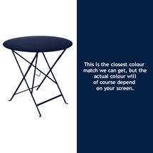 Bistro 77cm Round Table - Deep Blue