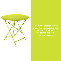 Bistro 77cm Round Table - Verbena Green